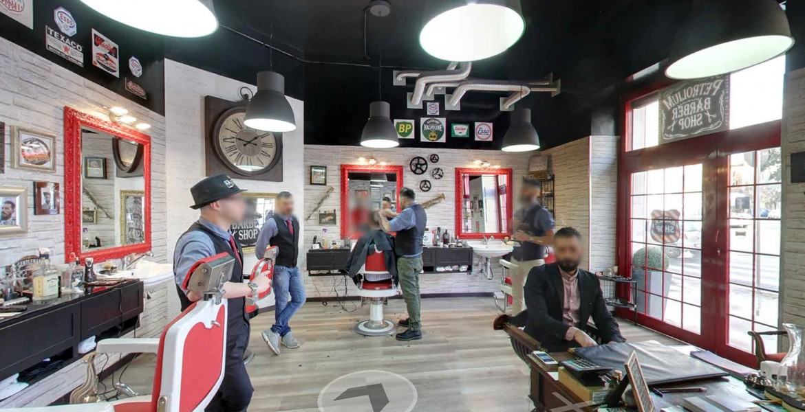 See Inside, Petrolium Barber Shop. Google Maps Street View |Trusted